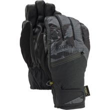 Burton Gore-Tex® Under Gloves - Waterproof, Insulated (For Men) in True Black Dpm Camo - Closeouts