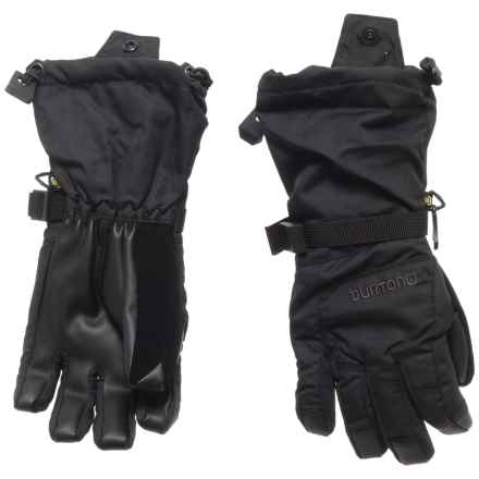 Burton Grab Gloves - Waterproof, Insulated, Touchscreen Compatible (For Little and Big Kids) in True Black - Closeouts