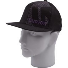 Burton Grid Line Flexfit Hat (For Men) in True Black - Closeouts