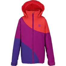 Burton Hart Jacket - Waterproof, Insulated (For Little and Big Girls) in Grapeseed Block - Closeouts
