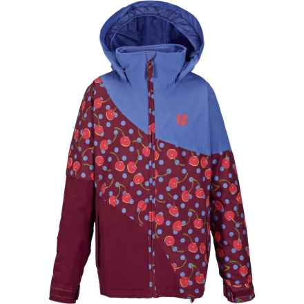 Burton Hart Jacket - Waterproof, Insulated (For Little and Big Girls) in Periwinks Block - Closeouts