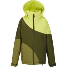 Burton Hart Jacket - Waterproof, Insulated (For Little and Big Girls) in Sunny Lime Block - Closeouts