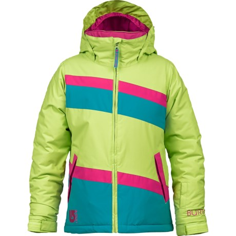 Burton Hart Snowboard Jacket - Insulated (For Girls) in Limeade/Hot Streak/Bohemian