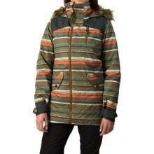 Burton Hazel Snowboard Jacket- Waterproof, Insulated (For Women) in Blanket Stripe - Closeouts