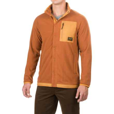 Burton Hearth Fleece Pullover Shirt - Snap Front, Long Sleeve (For Men) in True Penny - Closeouts