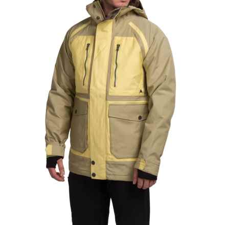 Burton Hellbrook Snowboard Jacket - Waterproof, Insulated (For Men) in Grayeen/Wheat - Closeouts