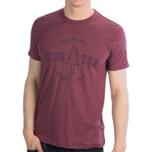 Burton Hemlock T-Shirt - Short Sleeve (For Men) in Heather Sangria - Closeouts
