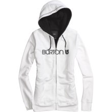 Burton Her Logo Hoodie Sweatshirt - Full Zip, Shepra Lining (For Women) in Bright White - Closeouts