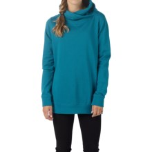 Burton Her Logo Mock Neck Sweatshirt (For Women) in Pacifico - Closeouts
