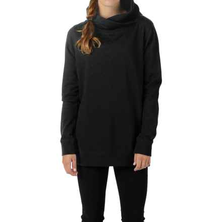 Burton Her Logo Mock Neck Sweatshirt (For Women) in True Black - Closeouts