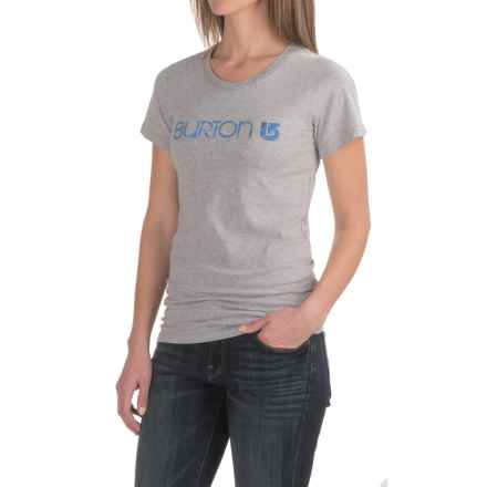 Burton Her Logo T-Shirt - Short Sleeve (For Women) in Gray Heather - Closeouts