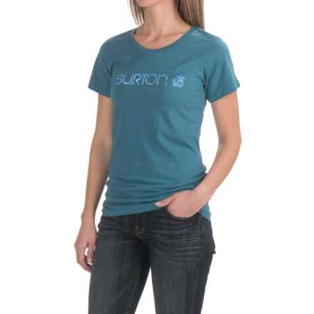 Burton Her Logo T-Shirt - Short Sleeve (For Women) in Pacifico - Closeouts