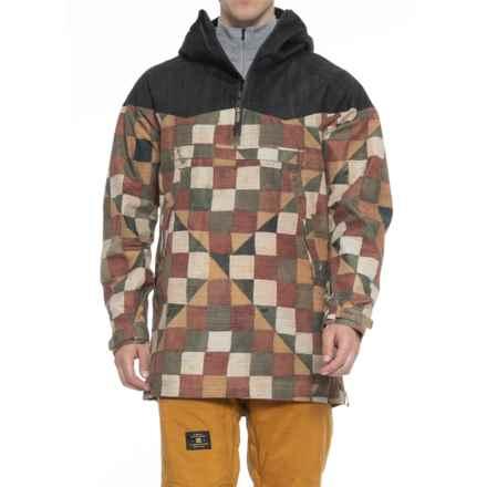 Burton Hightrack Anorak Ski Jacket - Waterproof, Zip Neck (For Men) in Qs Denim/Montreaux - Closeouts