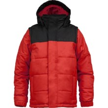 Burton Icon Puffy Snowboard Jacket - Insulated (For Boys) in Burner - Closeouts