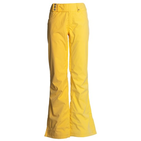 Burton Indulgence Snow Pants - Waterproof (For Women) in Gold Digger
