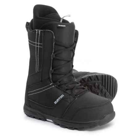 Burton Invader Snowboard Boots (For Men) in Black - Closeouts