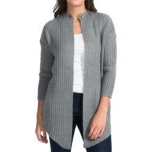 Burton Jasper Waterfall Cardigan Sweater - Open Front (For Women) in Dark Ash - Closeouts