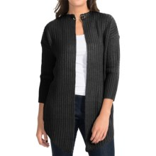 Burton Jasper Waterfall Cardigan Sweater - Open Front (For Women) in True Black - Closeouts