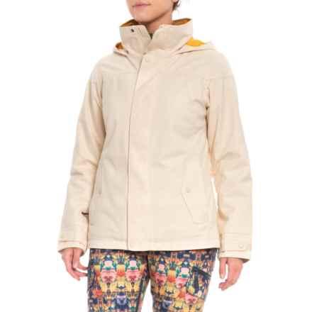 Burton Jet Set Ski Jacket - Waterproof, Insulated (For Women) in Canvas Fleck - Closeouts