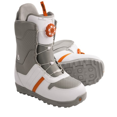 Burton Jet Snowboard Boots (For Men) in Grey/Orange