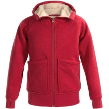 Burton Journey Hoodie - Fleece, Full Zip (For Little and Big Girls) in Chili Pepper Heather - Closeouts