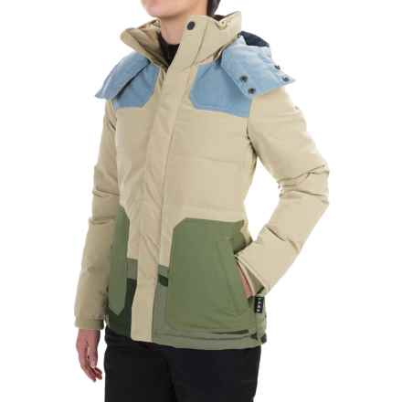 Burton L.A.M.B. Blitz Down Snowboard Jacket - 650 Fill Power (For Women) in Cement/Chambray/Weeds/Camo - Closeouts