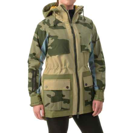 Burton L.A.M.B. Riff Snowboard Jacket - Waterproof, Insulated (For Women) in Cement/Chambray/Weeds/Camo - Closeouts