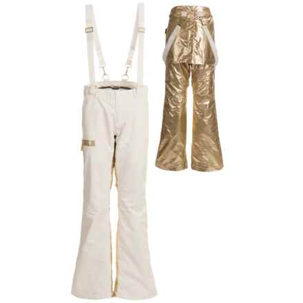 Burton L.A.M.B. X Johnny Pants - Waterproof (For Women) in Stout White/Gold - Closeouts