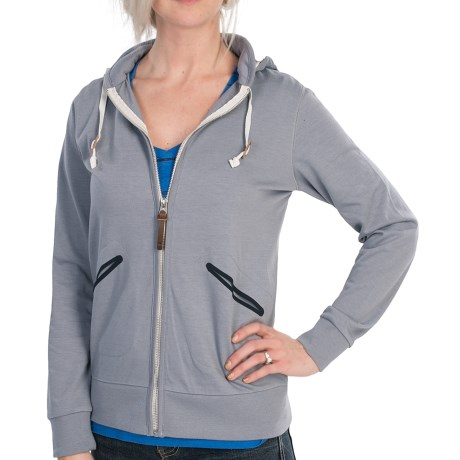 Burton Lark Hoodie - Full Zip (For Women) in Pewter Heather
