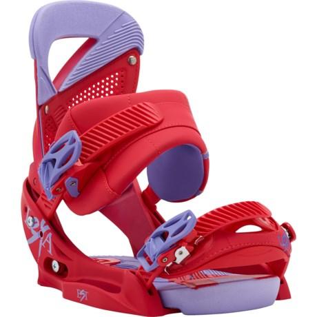 Burton Lexa EST Snowboard Bindings (For Women) in Crime Scene Red