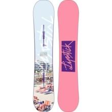 Burton Lip-Stick Snowboard (For Women) in 149 White Beach Condo/Pink W/Purple Logo - 2nds