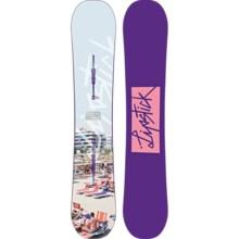 Burton Lip-Stick Snowboard (For Women) in 154 White Beach Condo/Purple W/Pink Logo Bottom - 2nds