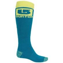 Burton Logo Snowboard Sock - Over the Calf (For Men) in Pipeline - Closeouts