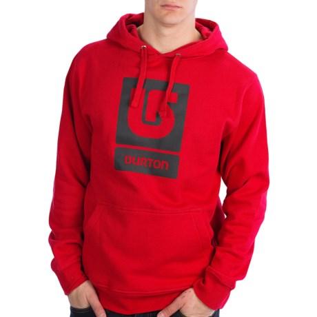 Burton Logo Vertical Hoodie Sweatshirt (For Men) in Cardinal