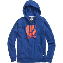 Burton Logo Vertical Hoodie Sweatshirt (For Men) in Royal - Closeouts