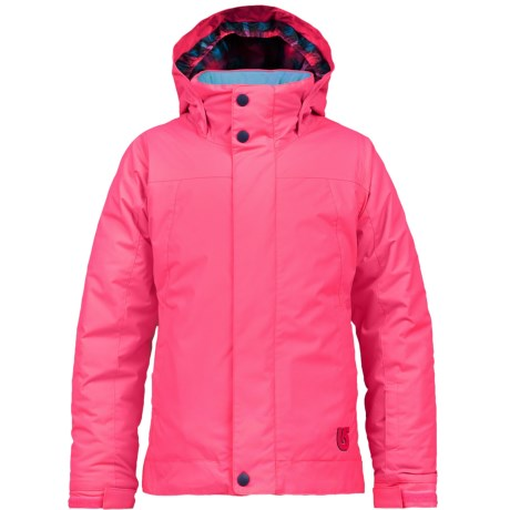 Burton Lynx Snowboard Jacket - Waterproof, Insulated (For Girls) in Hot Streak
