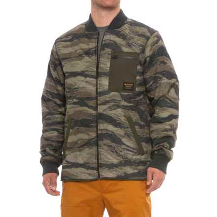 Burton Mallett Jacket - Insulated (For Men) in Olive Green Worn Tiger - Closeouts