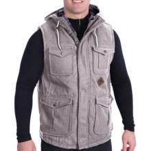 Burton Match Vest - Melton Wool (For Men) in Heather Grey - Closeouts