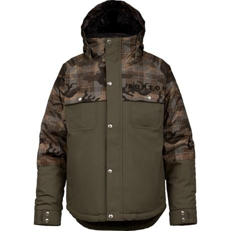 Burton Maverick Snowboard Jacket - Waterproof, Insulated (For Boys) in Burner Buffalo Plaid