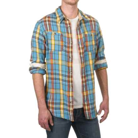 Burton MB Fairfax Woven Flannel Shirt - Long Sleeve (For Men) in Coronet Blue Essex Plaid - Closeouts