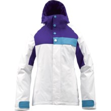 Burton Method Jacket - Insulated (For Women) in Bright White Colrblk - Closeouts