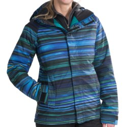 Burton Method Jacket - Insulated (For Women) in True Black Check Plaid