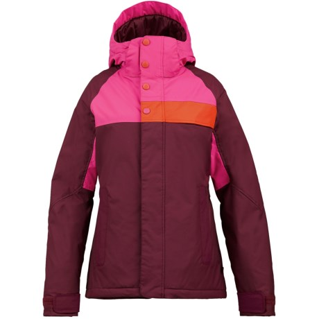 Burton Method Jacket - Insulated (For Women) in Sangria Colorblock