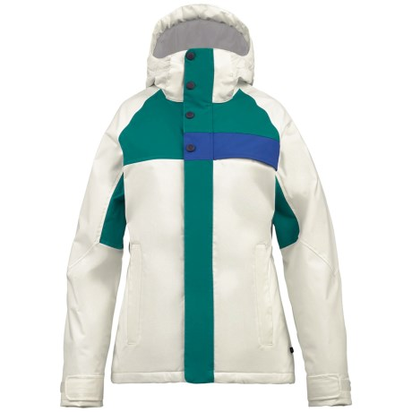 Burton Method Jacket - Insulated (For Women) in Stout White Colorblock