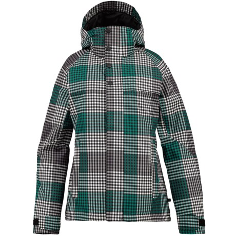 Burton Method Jacket - Insulated (For Women) in True Black Check Plaid