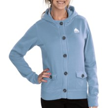 Burton Mid Hazel Hoodie - Full Zip (For Women) in Cape - Closeouts