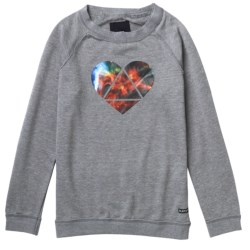 Burton Mid Mystic Sweatshirt - Long Sleeve (For Girls) in Heather Pewter