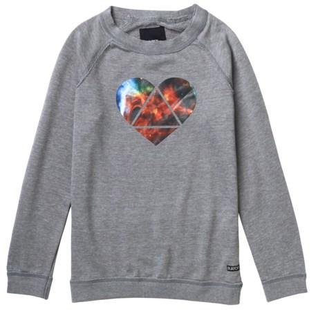 Burton Mid Mystic Sweatshirt - Long Sleeve (For Girls) in Heather Pewter