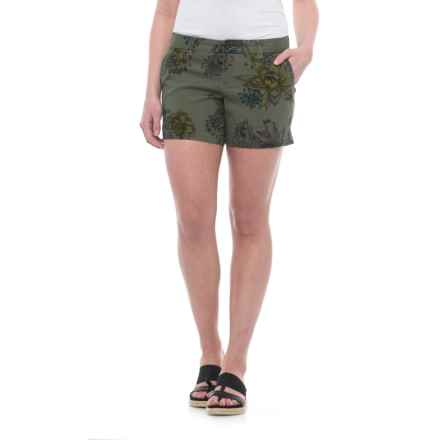 Burton Mid Shorts - Stretch Cotton (For Women) in Succulent Camo - Closeouts
