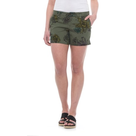 Burton Mid Shorts - Stretch Cotton (For Women) in Succulent Camo